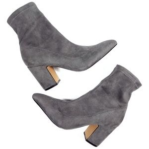 Steve Madden Lolli Gray Suede Ankle Boots